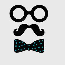 mustache bow and glasses photo props for a little man baby shower