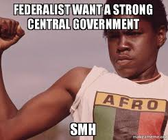 Memes Central - federalist want a strong central government smh smh make a meme