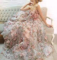 2017 prom dress full length sweetheart neckline 3d flowers pink