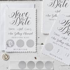 Card Invitations White Scratch The Date Save The Date Card Invitations By Ginger