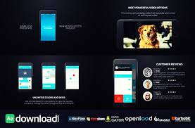 free template video presentation videohive parallax mobile app