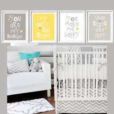 yellow and gray art prints you are my sunshine nursery wall