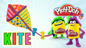 super colorful play doh kite crafting or how to make youtube