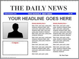 news report template templates clipart newspaper front page pencil and in color