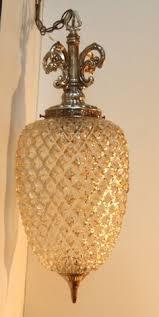 Swag Pendant Lighting Mid Century Modern Light Mcm Metal U0026 Glass Swag Lamp Hanging