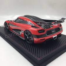 koenigsegg one 1 koenigsegg one 1 scale 1 18 resin model orange red by frontiart