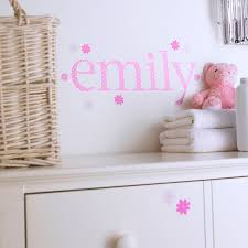 personalised pink polka wall letter stickers kidscapes personalised pink polka wall letter stickers