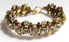 crystal bracelet diy images Alexa crystal gold base swarovski beadwork bracelet diy beading jpg