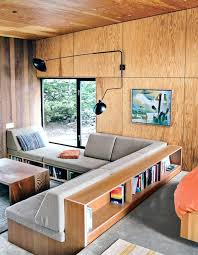 wooden shaped custom made sofa with bookcases leather sofas uk
