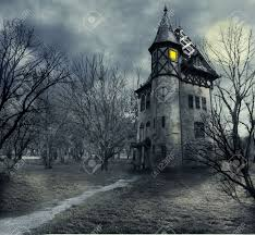 halloween design with haunted house stock photo picture and