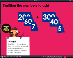 space safari addition use partitioning to add 3 digit numbers