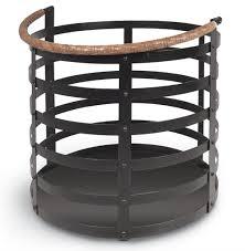 garvey rustic lodge wrought iron log floor basket kathy kuo home