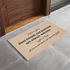 aliexpress com buy funny doormat good friends good beer non slip