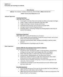 free resume templates to download and print sample teaching cv template 8 download free documents in pdf word