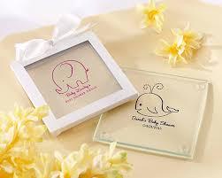 baby shower favors personalized glass coasters with baby designs baby shower favors