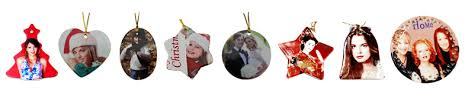 tree decorations 12pcs blank sublimation 3 ceramic