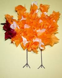 make a tissue paper turkey activity education
