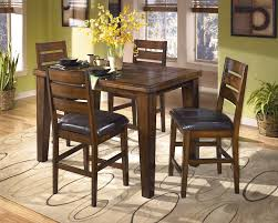 high dining room chairs larchmont square rectangular counter height leg table by ashley