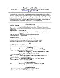 sample profile statements for resumes examples of profile