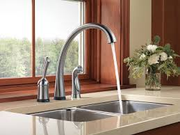 delta faucet 4380t ar dst pilar single handle kitchen faucet with