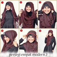 tutorial hijab segitiga paris simple hijab tutoriall cara berhijab segi empat paris simple images