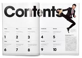 magazine layout graphic design 82 best magazines contents page designs images on pinterest