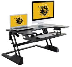 Sit Stand Desk Converter by Husky Mounts Fully Assembled Sturdy Standing Desk Converter Sit