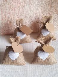 burlap party favor bags 2015 new year wedding candy bag with diy kraft tag burlap pouch