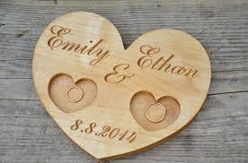 wedding ring holder ring holder wedding 4100 usd personalized wood wedding ring bearer
