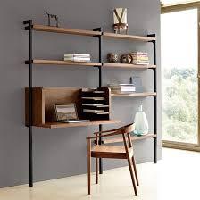 meuble bibliothèque bureau intégré un bureau bien rangé bien pensé et bien aménagé the collection