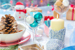 Board Decoration On New Year by Table Decoration On New Year U0027s Eve Royalty Free Stock Photos