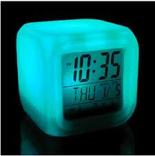 night light alarm clock wake up light alarm clock anstop multicolor shop night clocks 2017