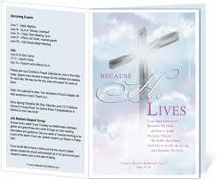 church programs templates church bulletin templates cross church bulletin template with