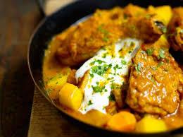 recettes de cuisine femme actuelle curry de poulet au yaourt à l indienne recette les recettes de