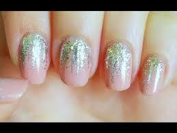 easy nail art glitter easy falling glitter nails youtube