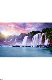 banyue waterfall wall mural