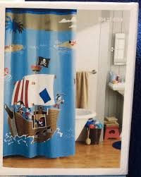 Nautical Bathroom Decor by Pirate Bathroom Decor Shower Curtain Crossbones Ship Kids Teen Set