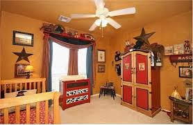 cowboy bedroom cowboy room love the dresser in the background painted red with