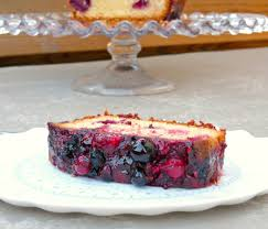 berry drizzle pound cake