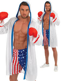 boxer costume adults american boxer costume mens boxing fancy dress sport usa