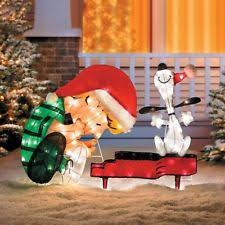 Peanuts Outdoor Christmas Decorations Plastic Christmas U0026 Winter Yard Decor Ebay