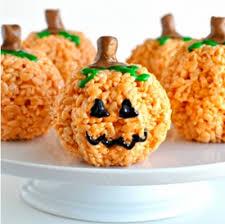 rice crispy treat pumpkins diy treats hapari
