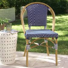 Navy Bistro Chairs Navy Kaliko Outdoor Bistro Chairs Set Of 2 World Market