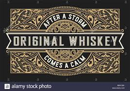 Vintage Ornaments Whiskey Label With Vintage Ornaments Stock Vector Art