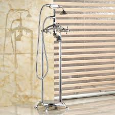 Bathroom Shower Mixer 2018 Bathroom Antique Floor Stand Faucet Telephone Retro Faucet