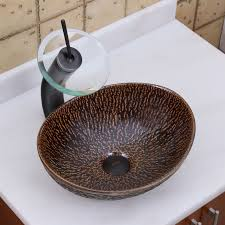 elite 1552 oval bronze glaze ceramic bathroom vessel sink bathroom