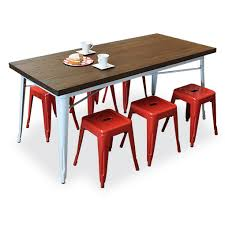 Tolix Dining Table Tolixtable180 Redstools Jpg