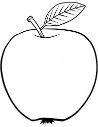 apple big leaf coloring page fruits drawings of apples