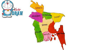 Map Of Bangladesh How To Draw Bangladesh Map Step By Step Youtube