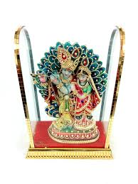 Peacock Decor For Home by Radhe Krishna Idol With Peacock Gift Home Decor Murti
